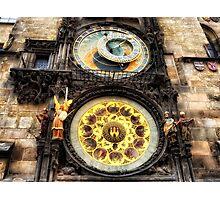 Prague clock Photographic Print