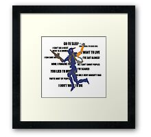 Chappie Quotes Framed Print