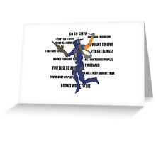Chappie Quotes Greeting Card