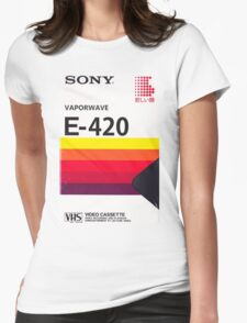 Vaporwave VHS Womens Fitted T-Shirt