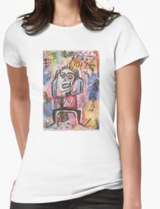 Untitled (Noise) Neo-Expressionism Womens Fitted T-Shirt