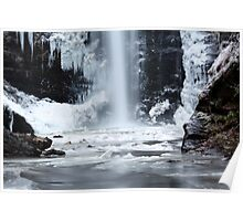 Looking Glass Falls in Winter Poster