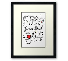 My Heart will be Forever Filled with Glee Framed Print