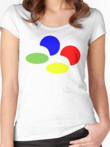 Super NES Logo (Flat) Women's Fitted Scoop T-Shirt
