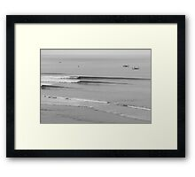 Impossible Line Up, Bali, Indonesia  Framed Print