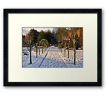 Snow Scene~ Framed Print