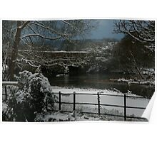 River Stour with Snow Poster