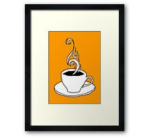 coffee scribble Framed Print