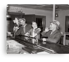 Saturday Night at the Saloon, 1937 Canvas Print