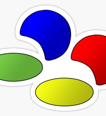 Super NES Logo (Gradient) Sticker