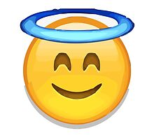 Smiling Face With Halo Apple / WhatsApp Emoji by emoji