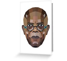 Samuel L. Jackson Greeting Card