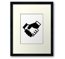 Shake hands Framed Print