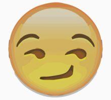 Smirking Face Apple / WhatsApp Emoji Kids Clothes