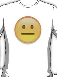 Neutral Face Apple / WhatsApp Emoji T-Shirt