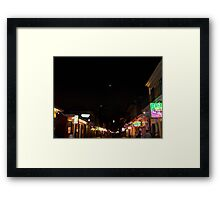Bourbon Streetscape By Night Framed Print