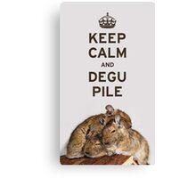 Keep Calm and Degu Pile Canvas Print