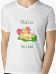 whats up pussy cat Mens V-Neck T-Shirt
