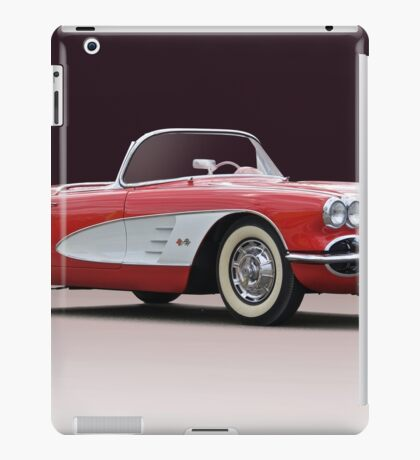 1958 Chevrolet Corvette Convertible 'Studio I' iPad Case/Skin
