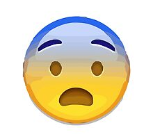Fearful Face Apple / WhatsApp Emoji by emoji