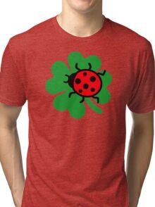 Shamrock ladybug Tri-blend T-Shirt