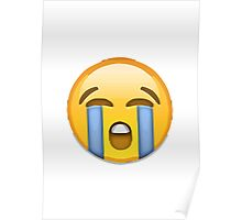 Loudly Crying Face Apple / WhatsApp Emoji Poster