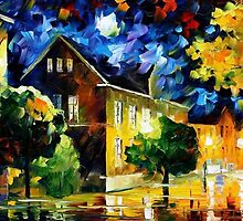 Quiet Town 2 — Buy Now Link - www.etsy.com/listing/226840872 by Leonid  Afremov