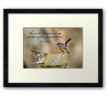 Dancing Bluebirds Framed Print
