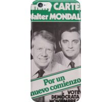 Carter y Mondale iPhone Case/Skin