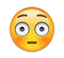 Flushed Face Apple / WhatsApp Emoji by emoji
