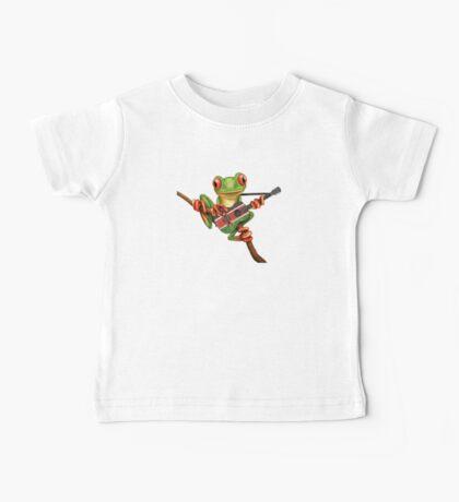 Tree Frog Playing Kenyan Flag Guitar Baby Tee