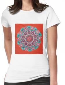 Doily Joy Mandala- Hot Summer Womens Fitted T-Shirt
