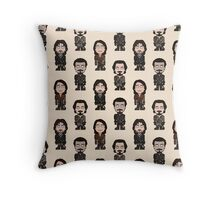 Repeating Musketeers Throw Pillow