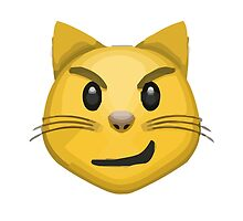Cat Face With Wry Smile Apple / WhatsApp Emoji by emoji