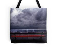 The Red Bench Tote Bag