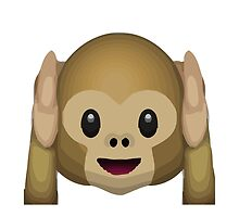 Hear-No-Evil Monkey Apple / WhatsApp Emoji by emoji
