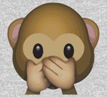 Speak-No-Evil Monkey Apple / WhatsApp Emoji Kids Clothes