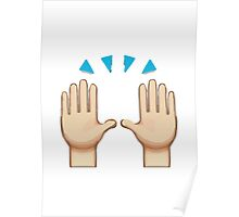 Person Raising Both Hands In Celebration Apple / WhatsApp Emoji Poster