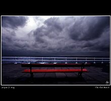 The Red Bench Poster by Wayne King
