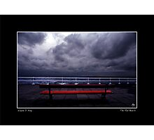 The Red Bench Poster Photographic Print