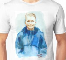 Watercolor portarit of Kevin Magnussen, Formula 1 driver Unisex T-Shirt