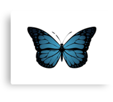 Blue Monarch Butterfly Canvas Print