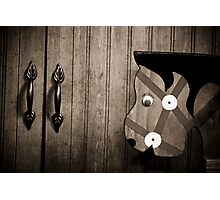 Do Wooden Horses Eat Metal Leaves? Photographic Print