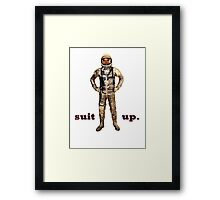 Space Suit Up Framed Print