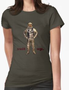 Space Suit Up Womens Fitted T-Shirt