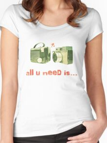 all u need is... Women's Fitted Scoop T-Shirt