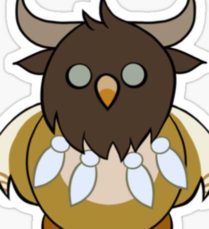Tauren Boomkin Dark Lines Sticker