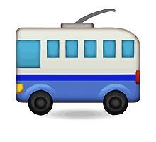 Trolleybus Apple / WhatsApp Emoji by emoji