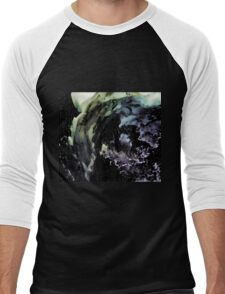 Ghostly wave abstract painting Men's Baseball ¾ T-Shirt