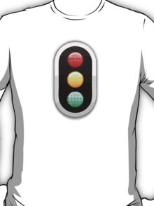 Vertical Traffic Light Apple / WhatsApp Emoji T-Shirt